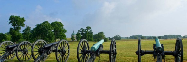 Battlefield with cannons